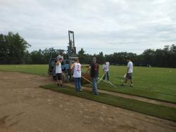 Laying Sod on Fields Design