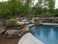 Waterfall, Patio & Pool Area Landscaping
