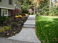 Paver Walk & Granite Steps