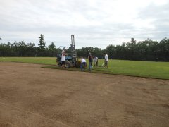 Laying Sod in Field